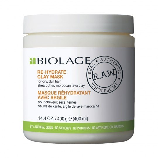 BIOLAGE R.A.W. MASCARILLA DE ARCILLA RE-HIDRATE CLAY 400ml