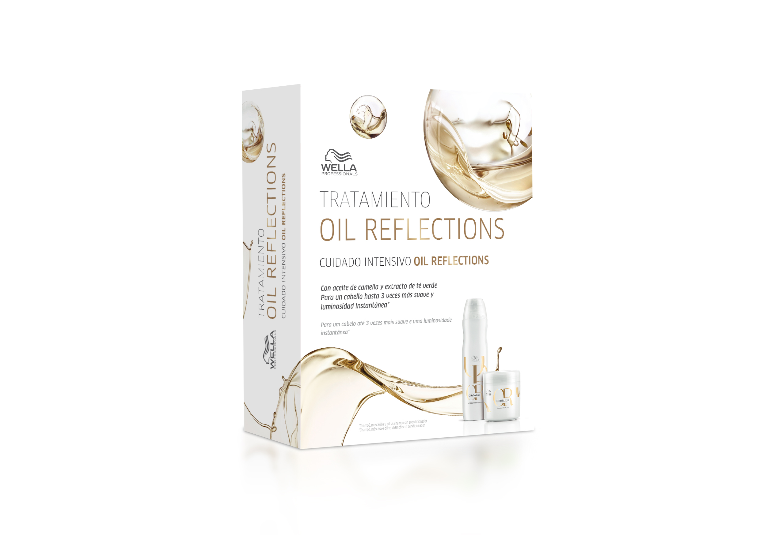 Pack OIL REFLECTION brillo Wella champu + mascarilla