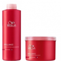 Champu 1000ml + Mascarilla 500ml BRILLANCE WELLA PROFESIONAL